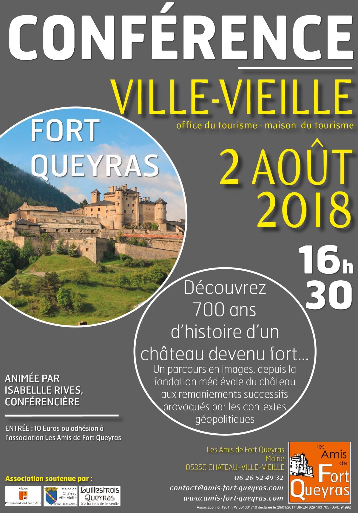 Affiche de la Conférence Fort Queyras 2 Août 2018