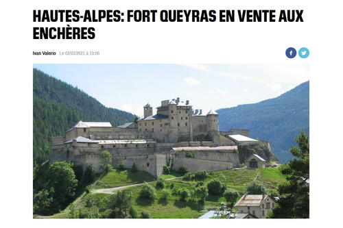 Fort Queyras de nouveau en vente ... aux enchères (le 15 avril)