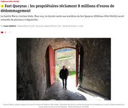 Vente de Fort Queyras : les propriétaires vendeurs s'estiment lesés